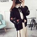 Las mujeres Chaqueta de Punto 2017 Otoño Nueva Moda Cardigans de Punto de Alta Calidad de la Manga de Soplo Tire Femme Sweter Mujer SZQ138