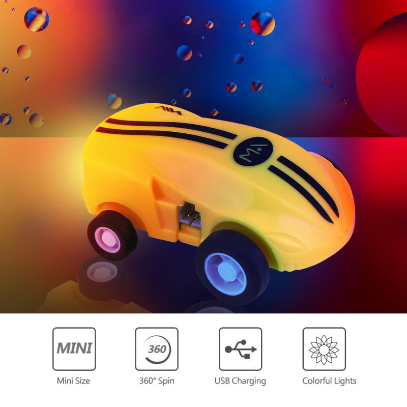 Diecasts & Toy Vehicles Mini Stunt Car Colorful Light Hight Speed 360 Rotation Spin Car Gift Mini Lovely Toy Vehicle Portable Transparent Sphere