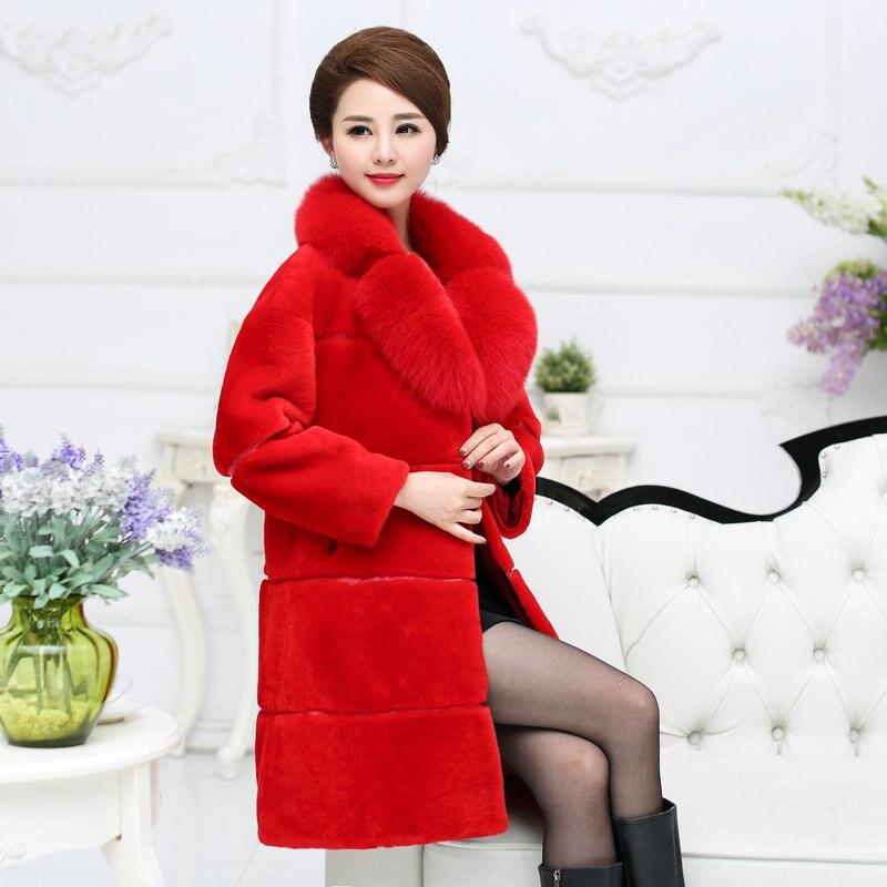 3xl Red black Plus grey Solide Nouvelle Couleur Longue De Survêtement Hiver Manteau Agneau Faux Cachemire Fourrure Taille La Slim Dame Spéciale Autorisation fwwqUZxRH