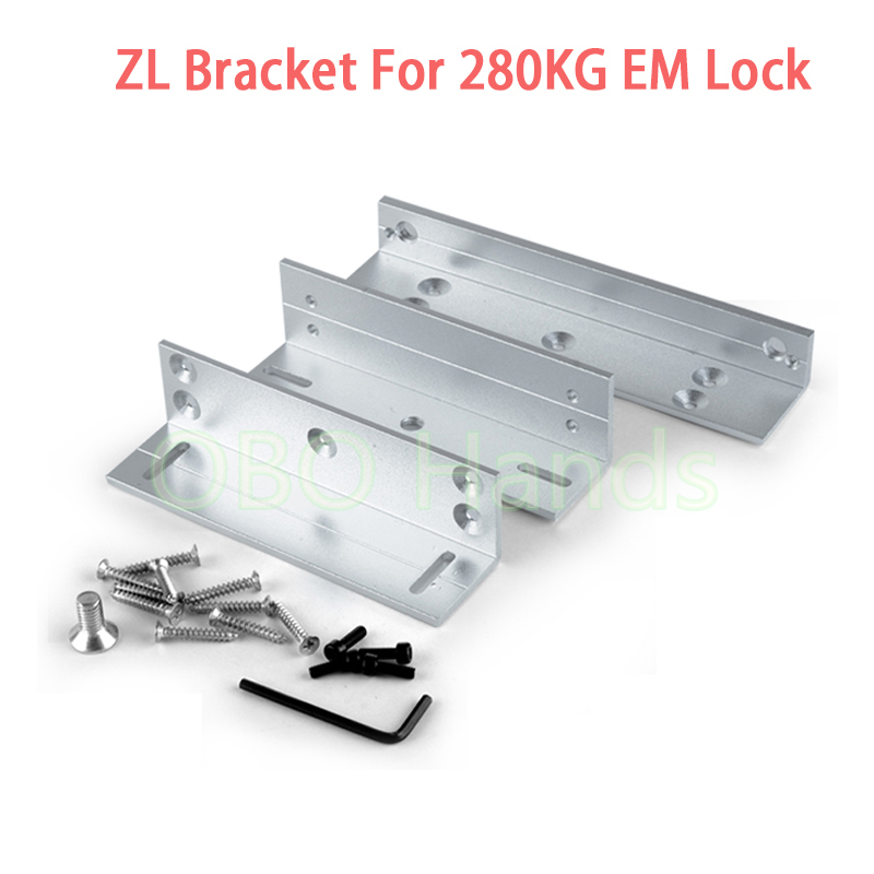 LZ Bracket Z & L Mounted Bracket Clamp LZ Stents For 280KG/600lbs Force Magnetic Lock Door office RFID EM Locks For Single door lz бюстгальтер фул лифт делюкс