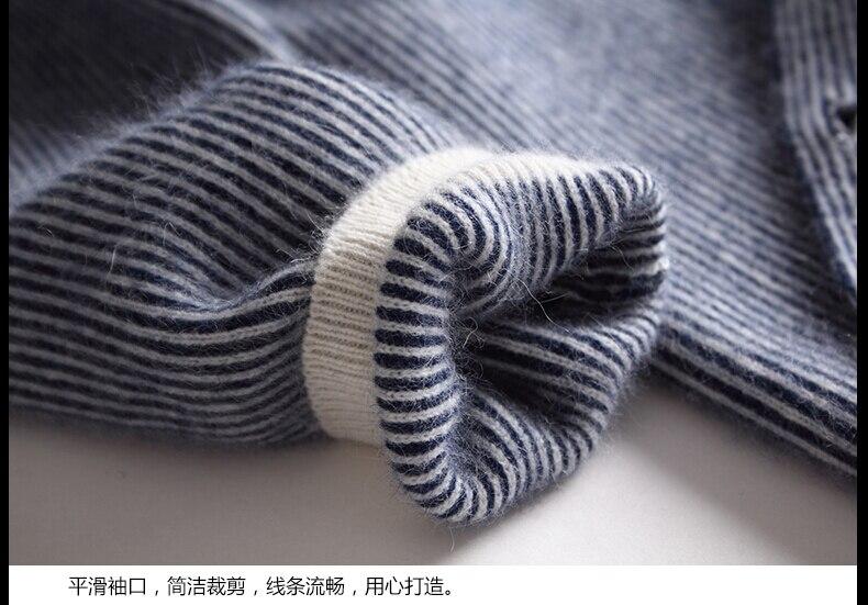 Damen Long Baseball Kitted Cashmere Cardigan Sweater Damen Herbst - Damenbekleidung - Foto 3