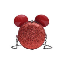 New Fashion Brand Design Women Mickey Shaped Bag Cute Funny Evening Clutch Purse Chain Shoulder for Birthday Gift