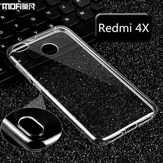 pretty nice 0a45b 4cfa2 US $8.72 |Xiaomi redmi 4x case cover MOFi original redmi 4x soft case  redmi4X case silicone clear transparent capa coque TPU-in Fitted Cases from  ...