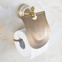 Brass antique toilet paper roll holders rack,Bathroom accessoties retro tissue paper holder high quality zba574