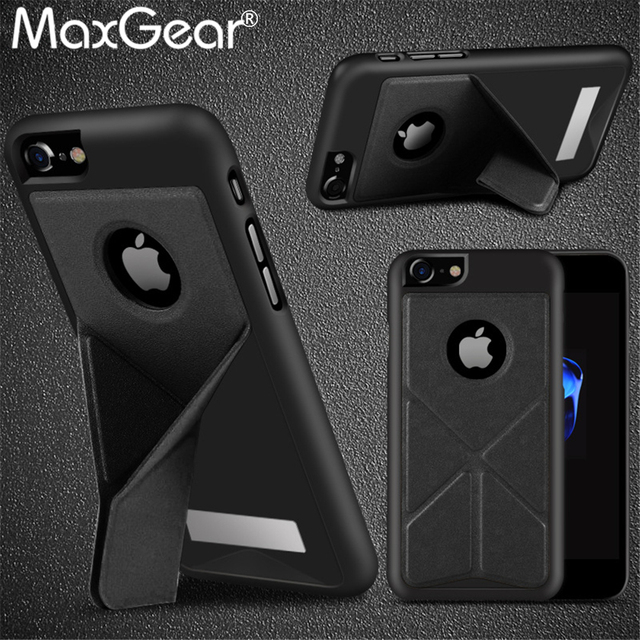 New Transformer Case for iPhone 6 6S 7 Plus Armor Cases With Magnetic Kickstand PU leather + PC Back Cover Shell Capa
