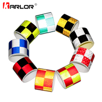 5cmx5m Safety Mark Reflective Tape Stickers Car-styling Self Adhesive Warning Tape Automobiles Motorcycle Bike Reflective Film