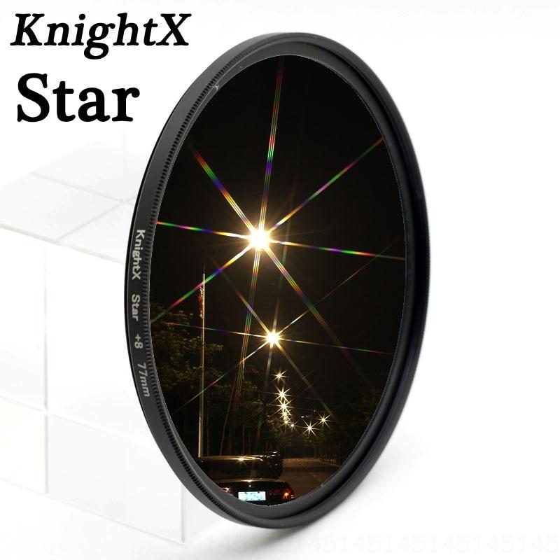 KnightX Star filtrs 52MM 58MM 67MM 6 punkts Nikon canon t3i D5200 - Kamera un fotoattēls
