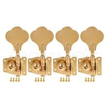 4 String Bass Guitar Tuners Tuning Pegs Keys Machine Heads Open Back Gear 4L Inline Gold