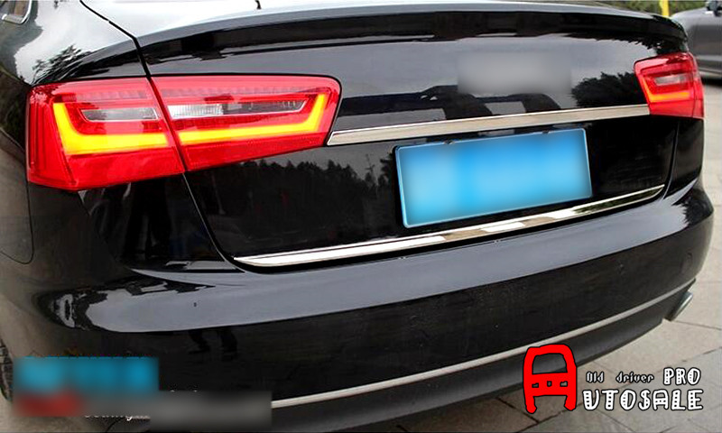 Stainless Steel Chrome Rear Trunk Lid Trim for Audi A6 C7 2012 2013 2014 2015