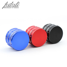 Simple and fashionable metal tobacco grinder, new 4 - layer personality color selection, free delivery