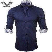 2016 New Spring Men Plaid Casual Shirt Fashion Popular Designs Slim Fit Tops Tees Cotton Male