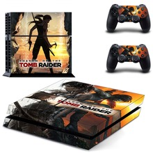 Shadow of The Tomb Raider PS4 Skin Sticker Decal Vinyl for Sony Playstation 4 Console and 2 Controllers PS4 Skin Sticker цена 2017
