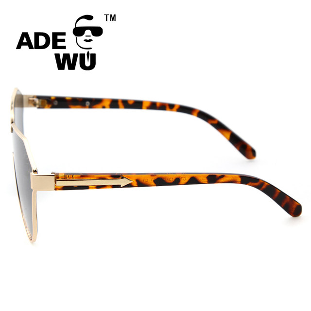 4fede0571c ADE WU Oversized Sunglasses Women Brand Designer Gold Rimless KW Style  Women s Sunglasses Lady Arrow Sun Glasses For Woman Eye