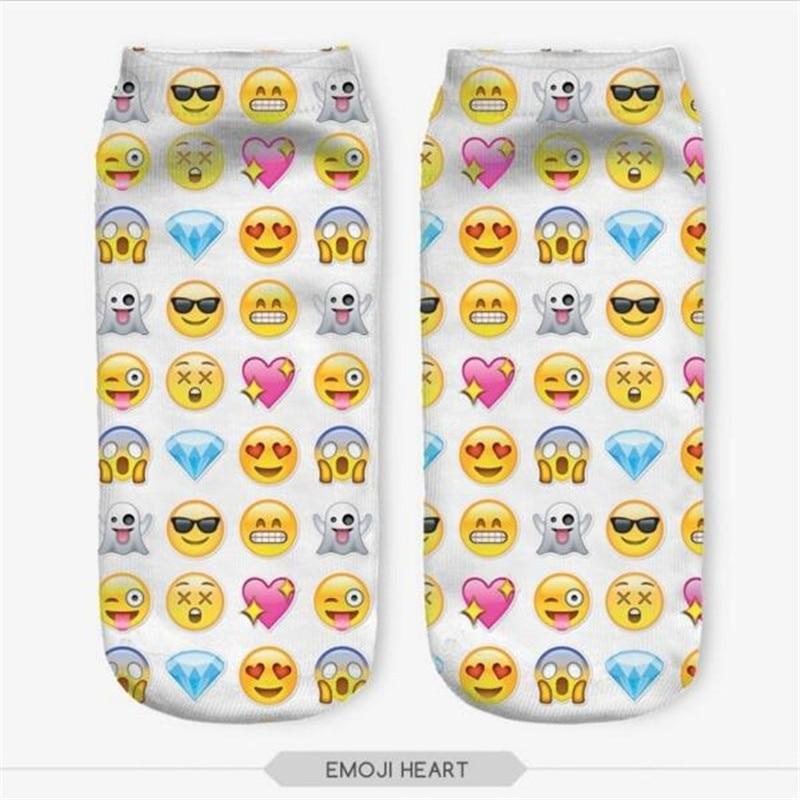 MuLian 3D Printed Socks Women Cotton Unisex Short Socks Low Cut Ankle Socks Multiplecolors Funny Emoji Socks Sun Art