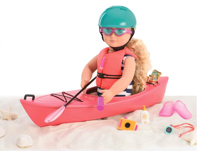 Baby Born Doll Accessories Kayak Adventure Set 18 Inch American Girl Doll Accessories Let's go on an outdoor kayak adventure мочеприемник для водителей go girl