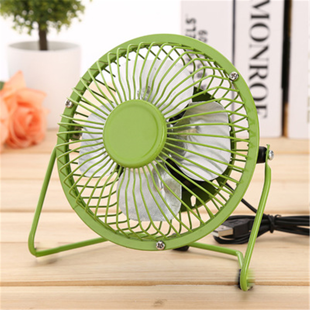 US $5 99 40% OFF|4 Inch USB Aluminum Mini Electric Fan For Office Home  Portable Computer PC Cooling air cooler -in Fans from Home Appliances on