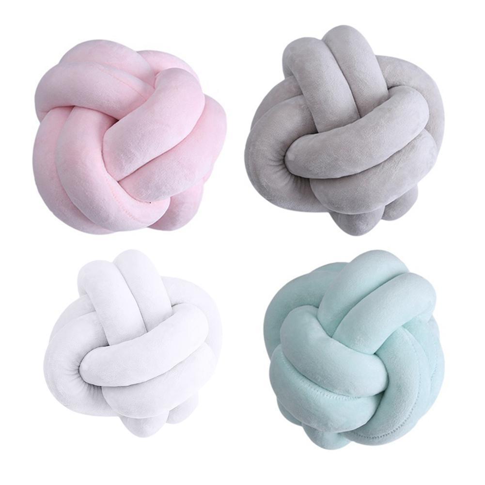 Creative 18cm noué balle coussin jeter oreiller taille dos coussin maison canapé lit décor poupées jouets pour enfants cojines coussin