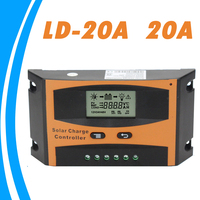 PWM 20A Solar Regulator 12V 24V Auto Switch For Max 55V Input with Humanized LCD Load Optional Light and Timer Control Y-SOLAR