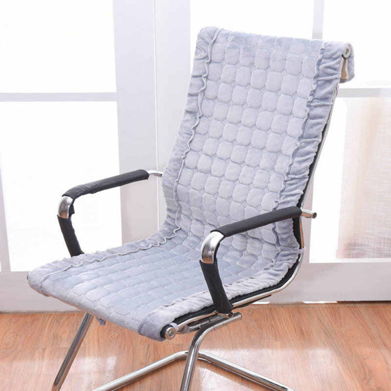 Rectangle Winter Chair Cushion Rocking Chair Seat Pad Office Chair Cushions Integrated Seat Mat Europe Style Warm Seat Cushion
