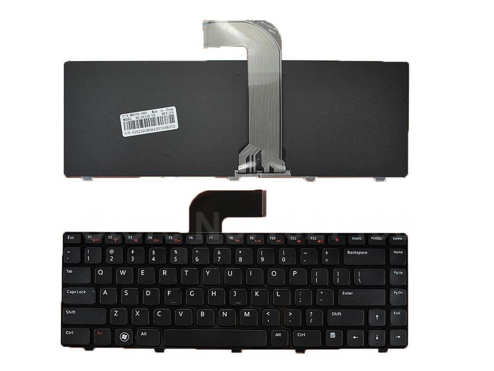 """Nešiojamojo kompiuterio klaviatūra, skirta """"DELL Vostro 3550 / XPS L502"""" / """"New14R"""" / """"Inspiron N4110 M4110 N4050 M4040 N5050 M5050 M5040 N5040 N411Z"""", JAV išdėstymas"""