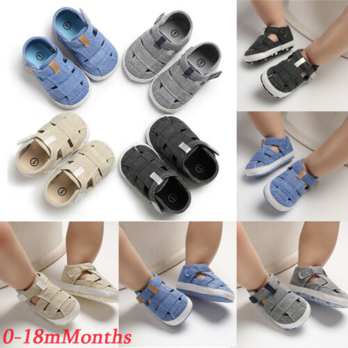 New Summer Shoes Baby Boy Girl Sandals Soft Sole Crib Shoes Sneaker Prewalker PU Leather Shoes