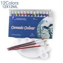 12 farben 12ml farbe set acrylfarbe keramik malen glas farbe malen glas zeichnung hand bemalt pigmente