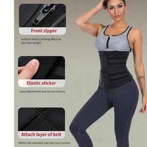 Image 5 - HEXIN Double Belt 100% Latex Waist Trainer Body Shapers Fitness Waist Trainer Zipper Shapewear Slimming Belt Fajas Colombianas