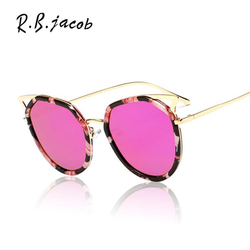 2017 Summer Style Fashion Sun Glasses Vintage Cat Eye Women Men Sunglasses Brand Designer Hot Sale Ladies Classic Frame Mirror