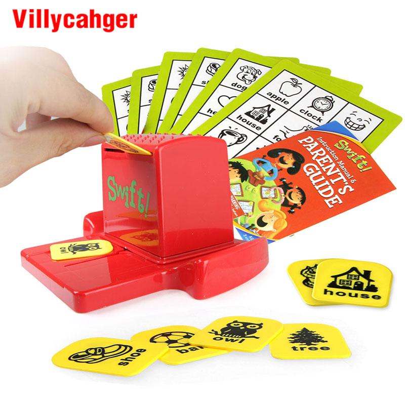 Us 1151 30 Offbelajar Kata Kata Bahasa Inggris Anak Anak Teka Teki Swift Kartu Bingo Belajar Mainan Pendidikan Bahasa Inggris Gambar Kata