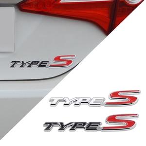 New Chrome Metal Zinc TYPES TYPE S Car Styling Refitting Trunk Logo Emblem Mark Sticker Grille For Honda Civic CR-V Jade Accord(China)