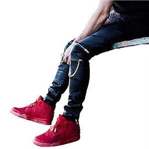 Высокое количество PU искусственная кожа Мужская облегающая одежда Джастин Бибер облегающие хип-хоп штаны на молнии Swag байкерские бегуны ...