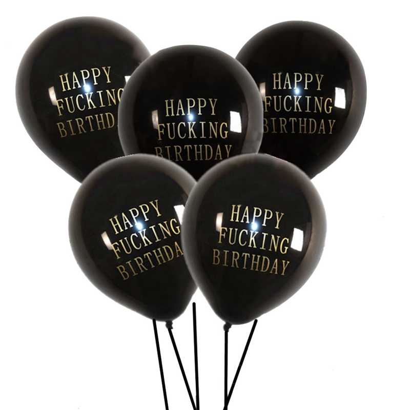 1 Pcs Selamat Ulang Tahun Balon Huruf Gambar Balon Kasar Kasar Balon Ulang Tahun Pesta Dekorasi Aliexpress