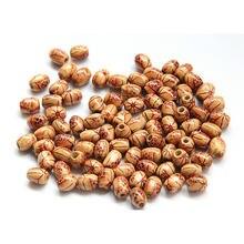 50 шт/лот деревянные бусины с принтом в виде барабана бусы ручной