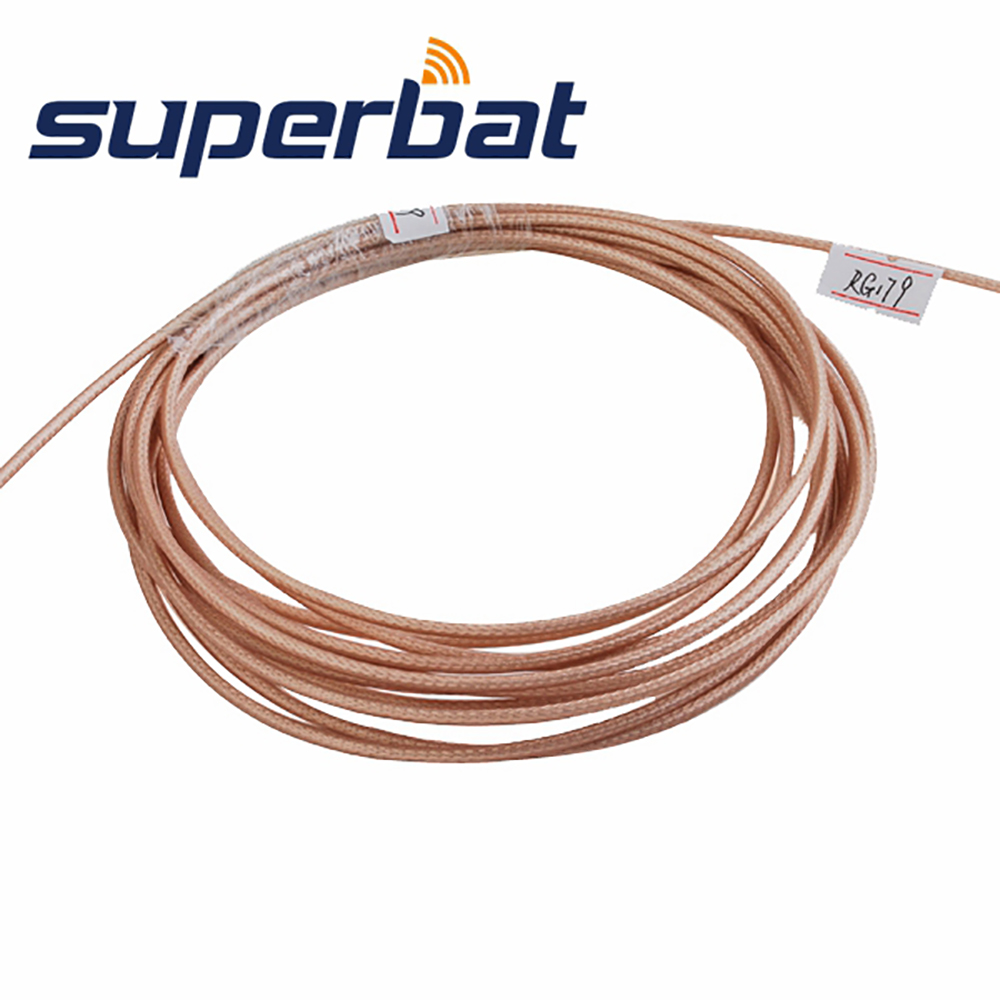 Superbat RF Coaxial Cable Adapter Connector M17/94-RG179 / 50 Feet Coax Cable