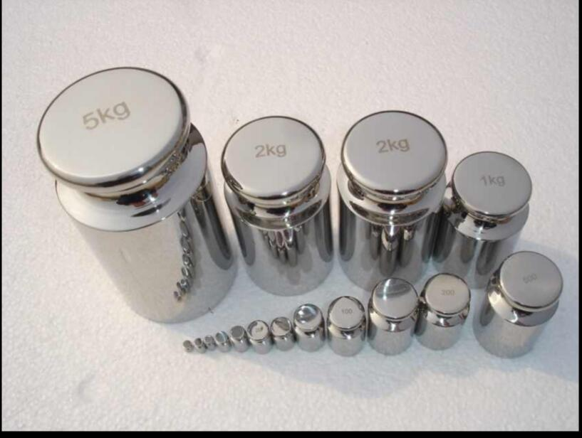 1pcs 1g-1kg F2 Grade Stainless Steel Milligram Calibration Weight Set For Electric Scale Balance Test 0.1~0.01g