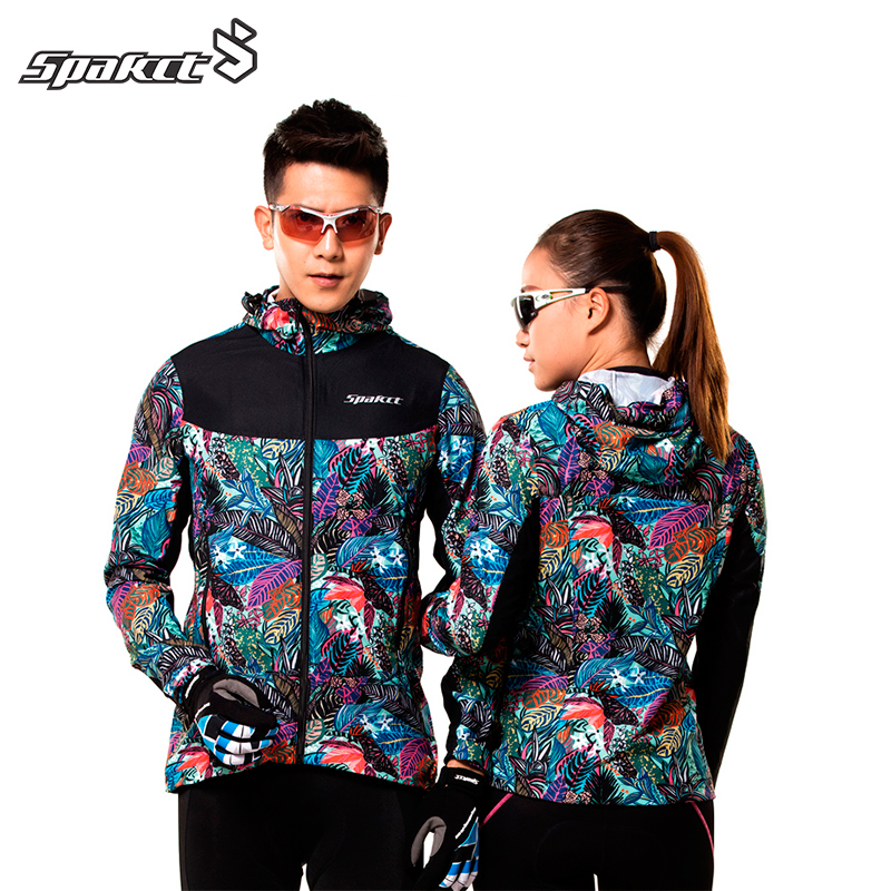 SPAKCT cyclisme Sports vestes réversibles impression thermique respirant coupe-vent imperméable veste Jersey vélo vélo manteau femmes