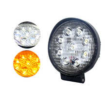 New Round LED Work Light TWo-color Mixed White Yellow Warm Off-road Vehicle Spotlight Modified Roof