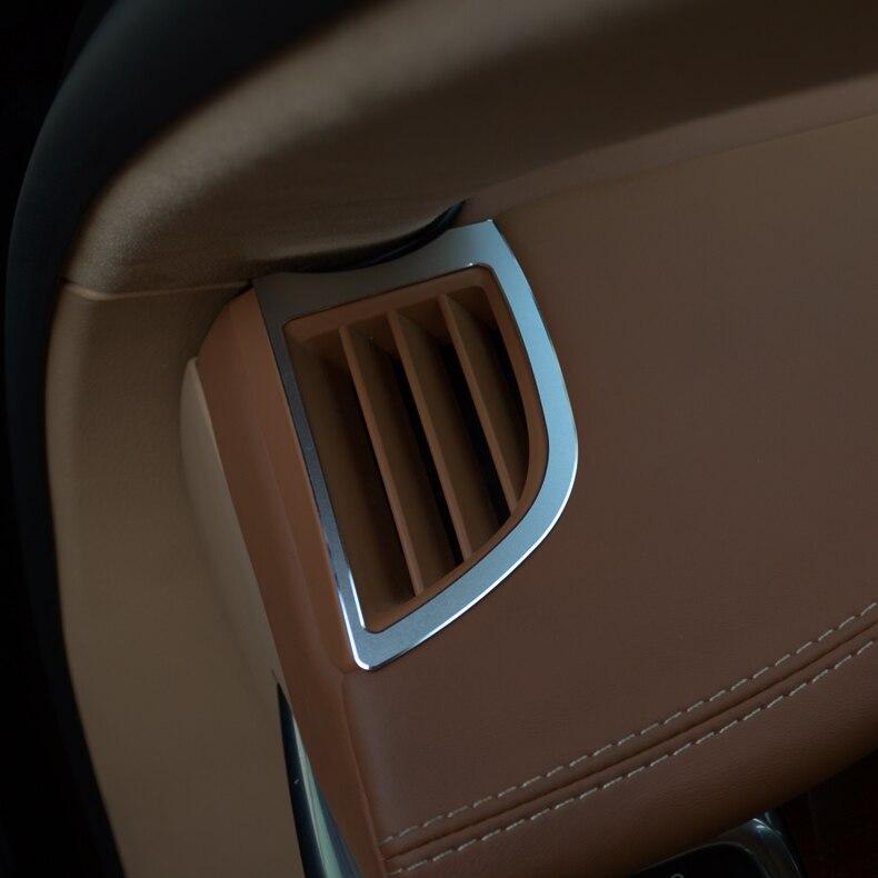 Tableau de bord de voiture en alliage de métal a/c coins évents revêtement d'habillage Chrome style autocollant tableau de bord intérieur pour Porsche Panamera Cayenne