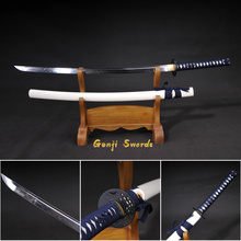 Handmade Full Tang Katana T10 Steel Clay-Tempered Real Japanese Samurai Sword Iron Fitting