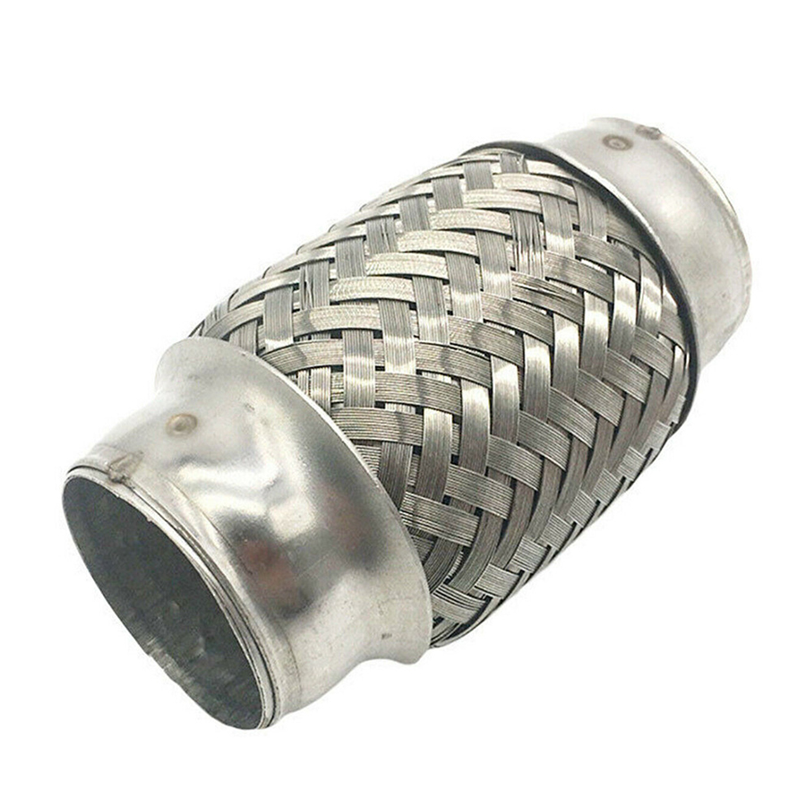 """2.25/"""" x 10/"""" Double Braid Stainless Steel 8/"""" Flex Pipe Pipin Adapter//Connector"""