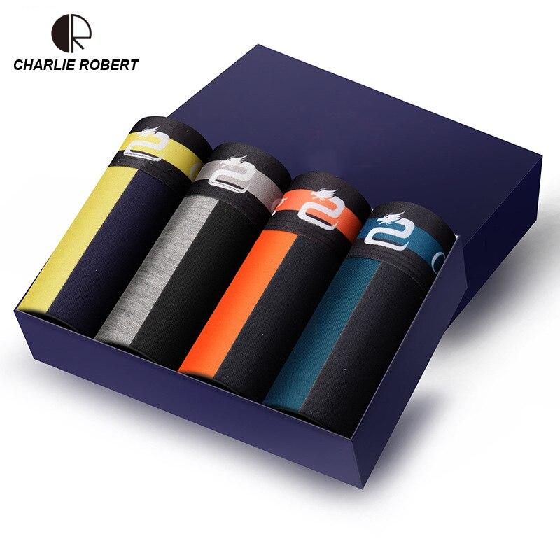 New Men Underwear Gift Box 4pca/lot Soft Breathable Modal Boxer Brand Designer Male Mens Underwear Boxers AU352 Wholesale
