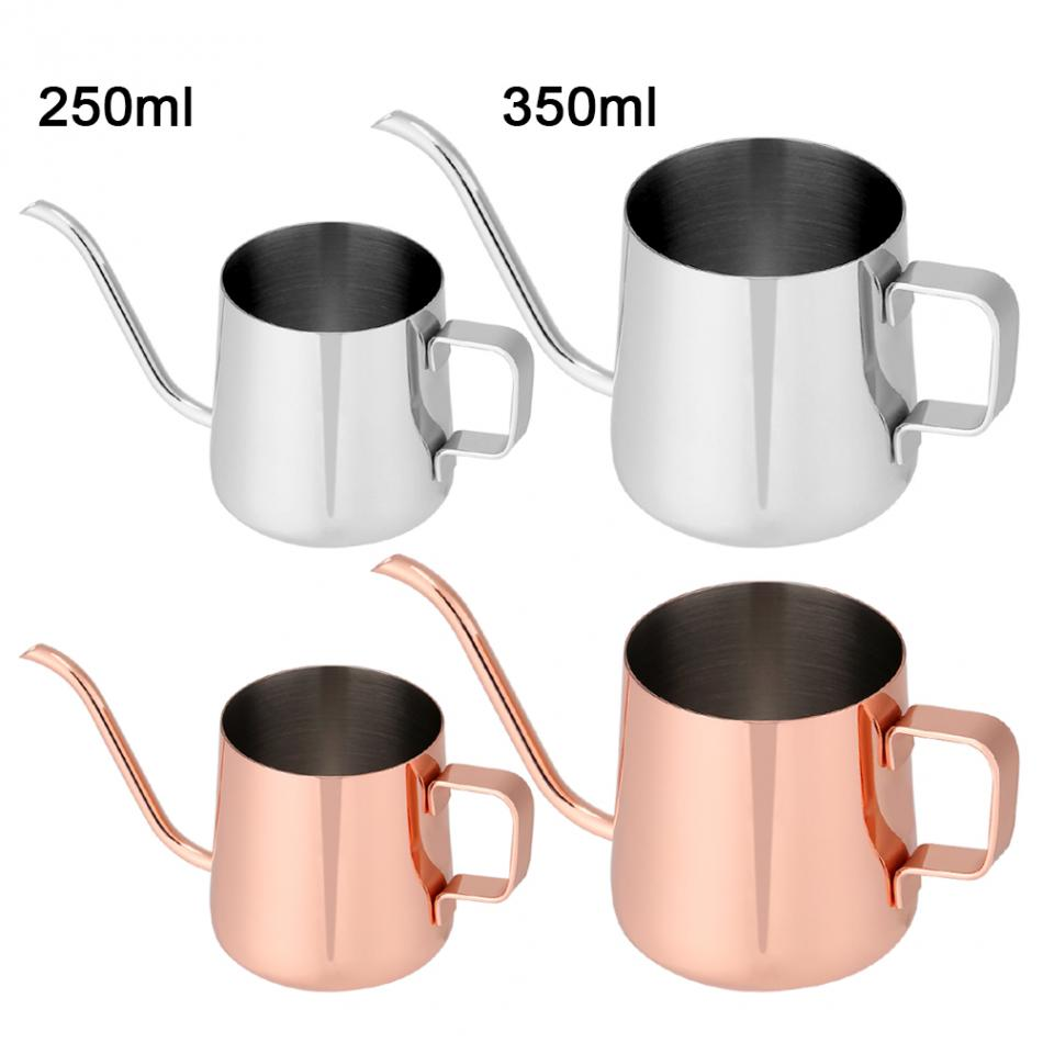 250ml/350ml Stainless Steel Teapot Drip Coffee Pot Long Spout Kettle Cup Home Kitchen Tea Tool