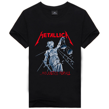 2016 Iron Maiden AC DC Metallica The Beatles Summer O neck T shirt Men Rock 3D