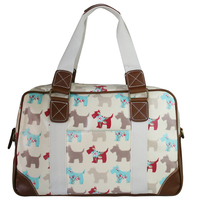 Women Men Owl Butterfly Dog Oilcloth Large Overnight Weekend Travel Maternity Handbag Tote Bag L1106