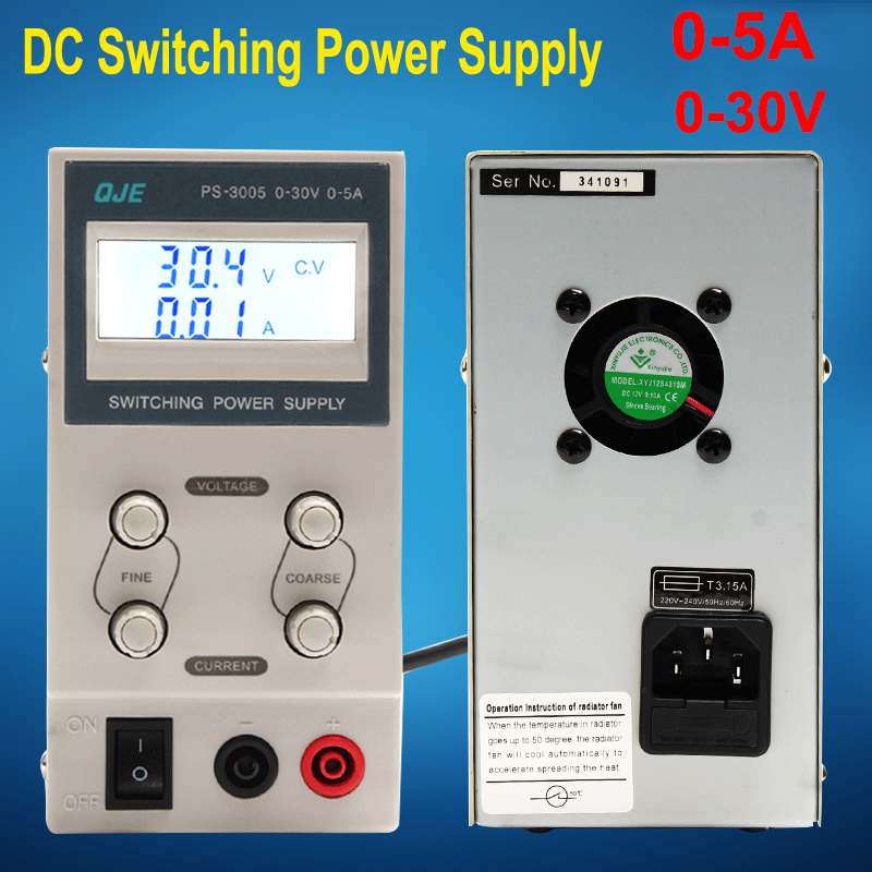 Voltage Regulators PS3005 30V 5A Switch laboratory DC power supply 0.1V 0.01A Digital Display adjustable Mini DC Power Supply rps6005c 2 dc power supply 4 digital display high precision dc voltage supply 60v 5a linear power supply maintenance