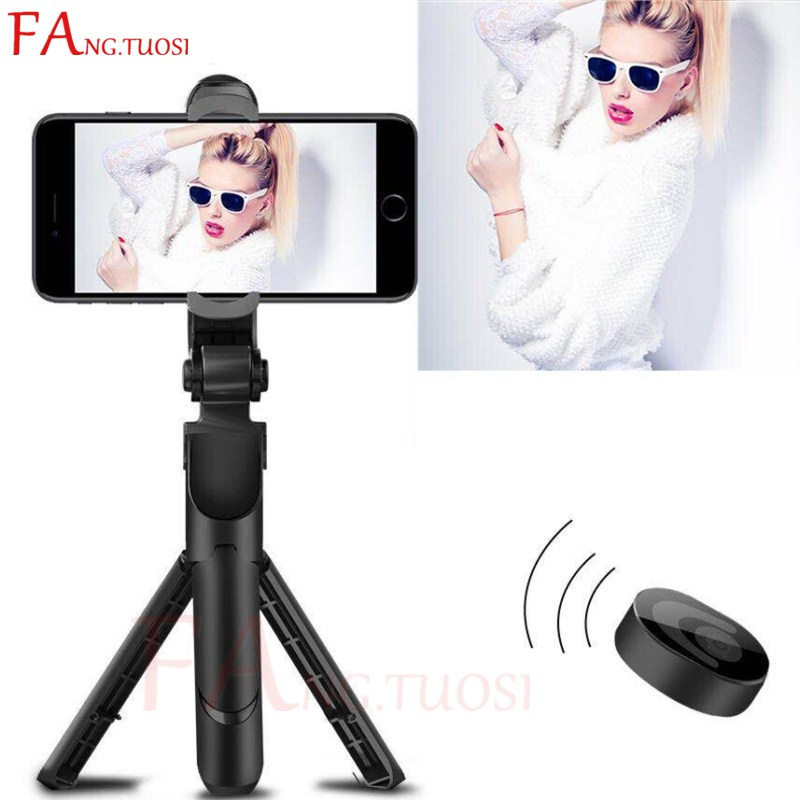 купить FANGTUOSI 3 in 1 Wireless Bluetooth Selfie Stick Mini Tripod Extendable Monopod For iPhone 7 6s plus 2018 remote Selfie Stick онлайн