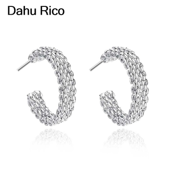 weaved net ohrstecker studs anneau oreille oorbel argento roxi sieraden indian teacher gift new arrivals Dahu Rico stud earrings image