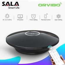ФОТО orvibo smart home allone pro universal ir rf remote control wifi 2.4g connected work with amazon echo alexa google smart house
