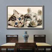 Living room 5D diamond painting explosion section square diamond full drill oil painting cat