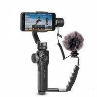 Zhiyun Glatte 4 smartphone 3 Achsen gimbal stabilisator Mobile video steadicam für iphone/Android action kamera-in Hand-Tragbügel aus Verbraucherelektronik bei